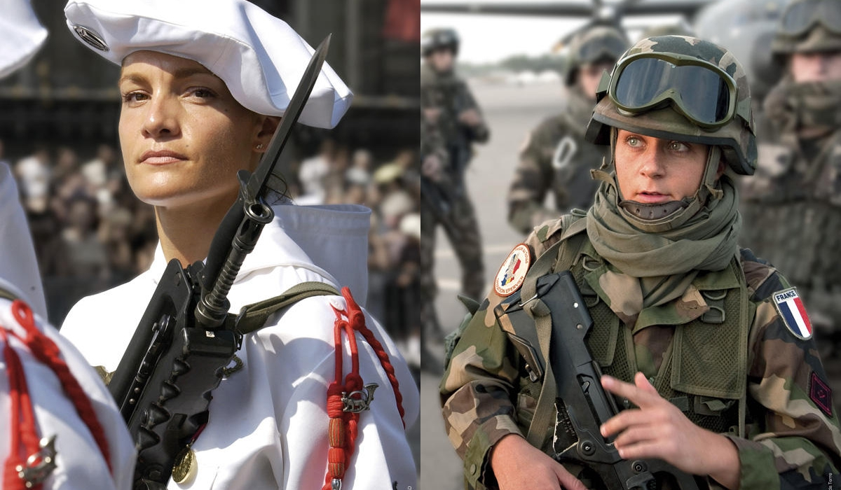 French Army Women Women in the French mi...